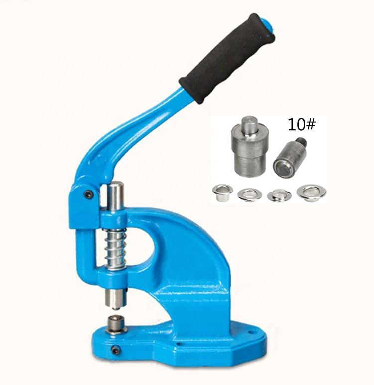 Guangzhou Manual Eyelet Grommet Machine Hand Press 6-15MM buttonhole Puncher with one mold for Banner Display Rack