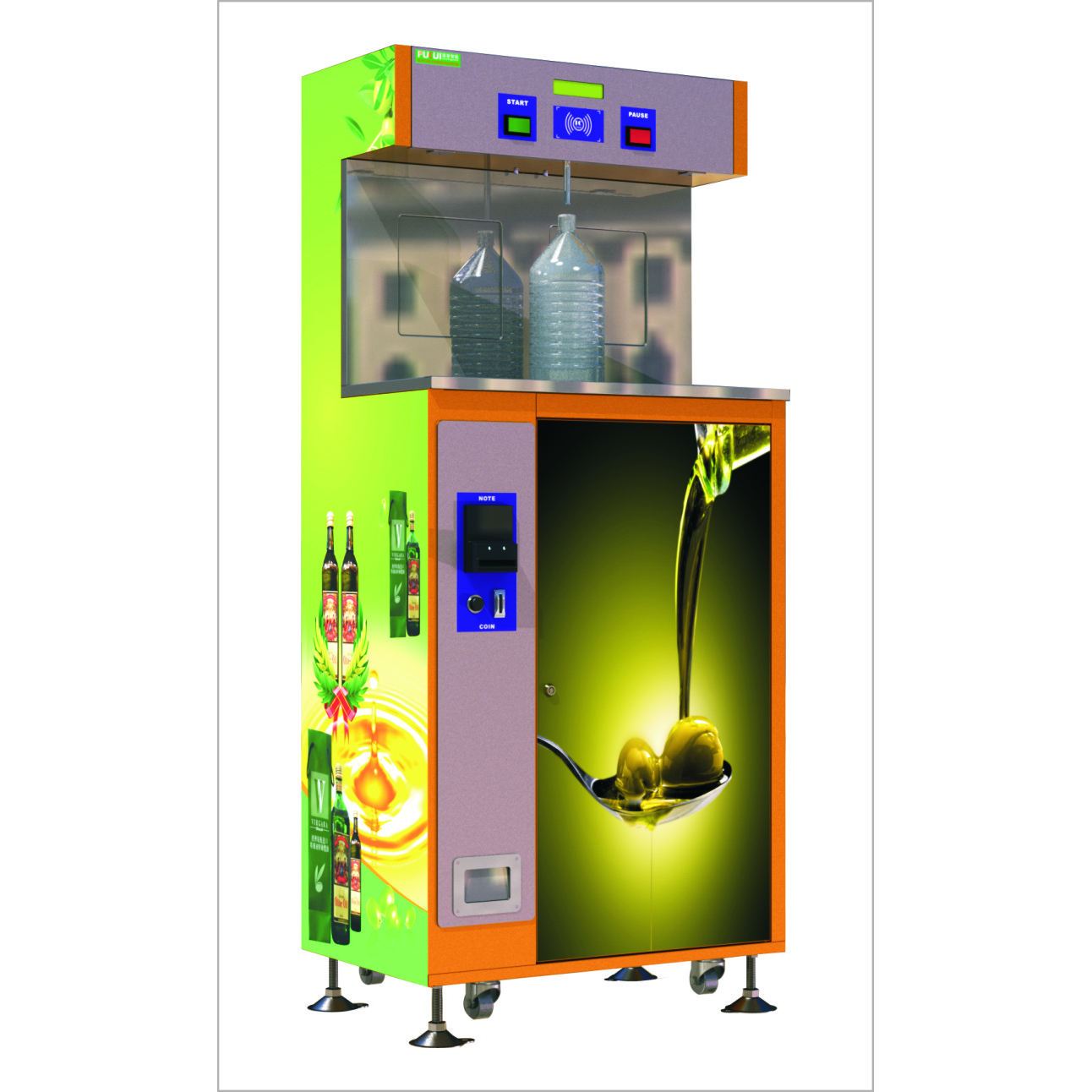 Commercial olive cooking oil vending machine