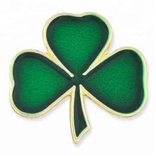 Ireland National Clover Lapel Pin Flower Green Shamrock Soft Enamel Pin