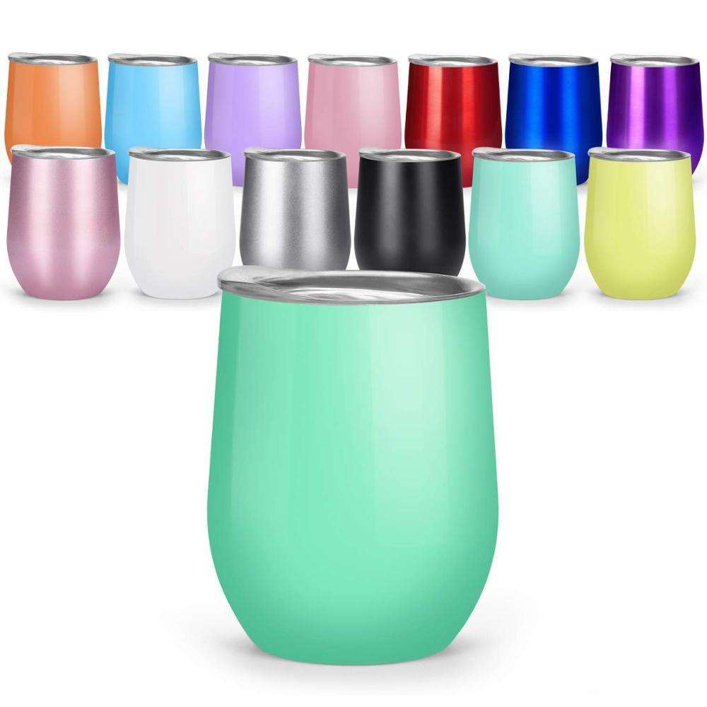 Wholesale 8oz/12oz/16oz Vacuum Insulated Tumbler Cup Double Wall 18/8 Pro Grade Stainless Steel Wine Tumbler Cup with Lid Straw