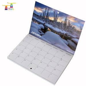 Venta al por mayor, calendario de adviento de escritorio impreso en 4 colores, calendario de mesa