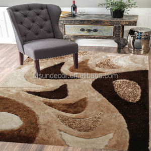 Trade assurance shaggy rugs for living room cut pile shag area rug for living room