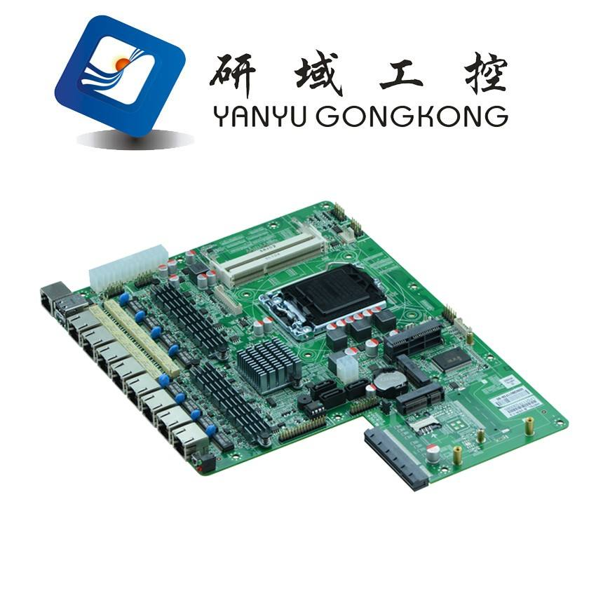 China 1U haswell i3 i5 i7 processor firewall 8 Ethernet Ports nic lan linux router motherboard