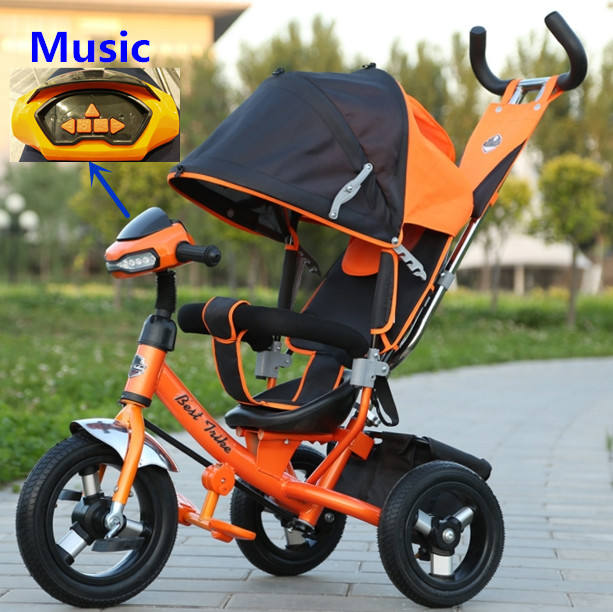 2020 Factory wholesale small kids double seat children tricycle two seats baby tricycle kids push tricycle with back seat