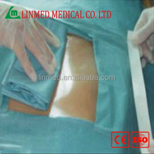 High quality surgical incision drape in blue color With iodine