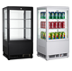 50L To 600L Commercial Countertop Drink Bottle Beverage Display Cooler Showcase Refrigerator Four Side Glass Door Fridge