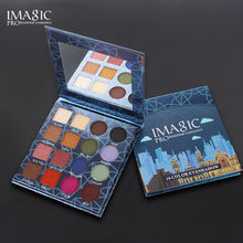 Imagic high pigmented 16 color eyeshadow palette mae up eye shadow glitter eyeshadow