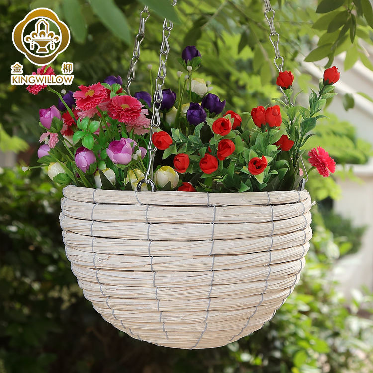Metal Garden Patio Plant Pot Basket Jardiniere Flower Planter and Liner