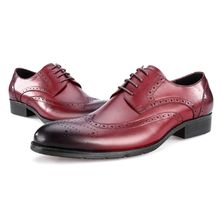 Factory direct price wedding party oxfords wine red dress oxford leather shoes for men