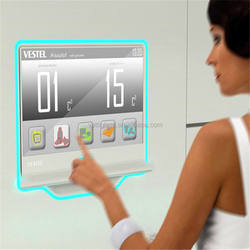 Wholesale clear safety Switchable bathroom living room use magic mirror tv glass