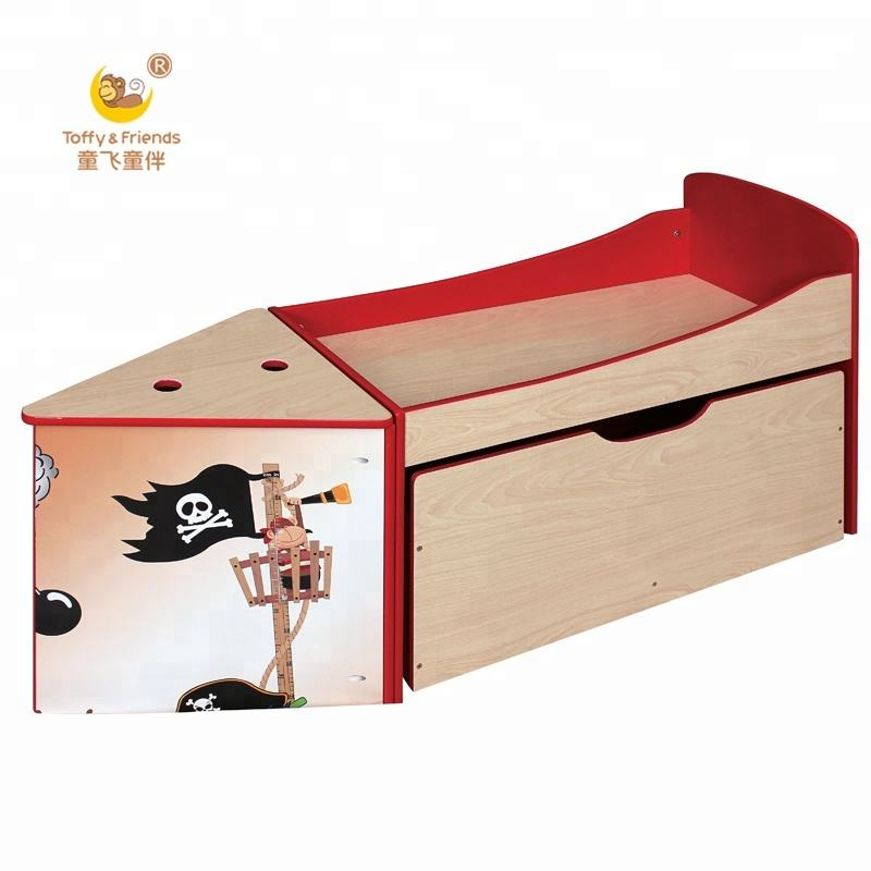 Hot koop kids houten piratenschip bed