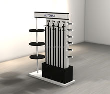 Popular free standing belt display chrome stand  garment rack for garment store