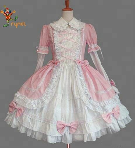 PGWC2401 China Factory Supply Cotton Gothic Lolita Dress Uniform Party Fancy Dress Costumes