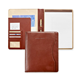 genuine cow leather document holder office writing portfolio file folder