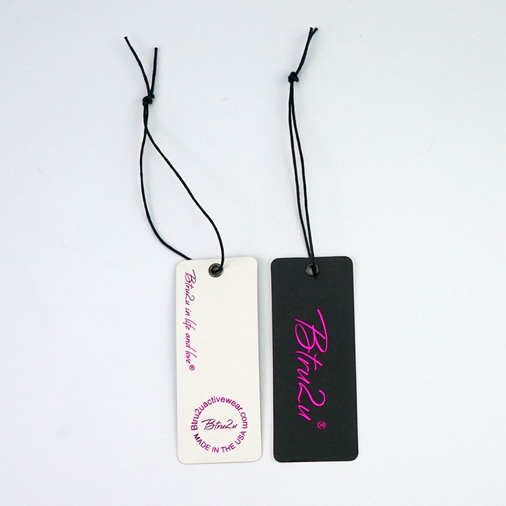 Custom swing hang tags new china label designs clothing garment pant logo Hang Tag Printing/Clothing Tags For Womens Clothes