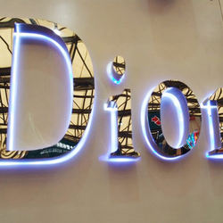 LED Letters Front  Lit Channel Letter  Sign Pylon Signage Fabricated Stainless Steel Mini 3D Letter