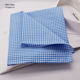 Lovely Blue Check Baby Kids Handkerchief Cotton Pocket Squares