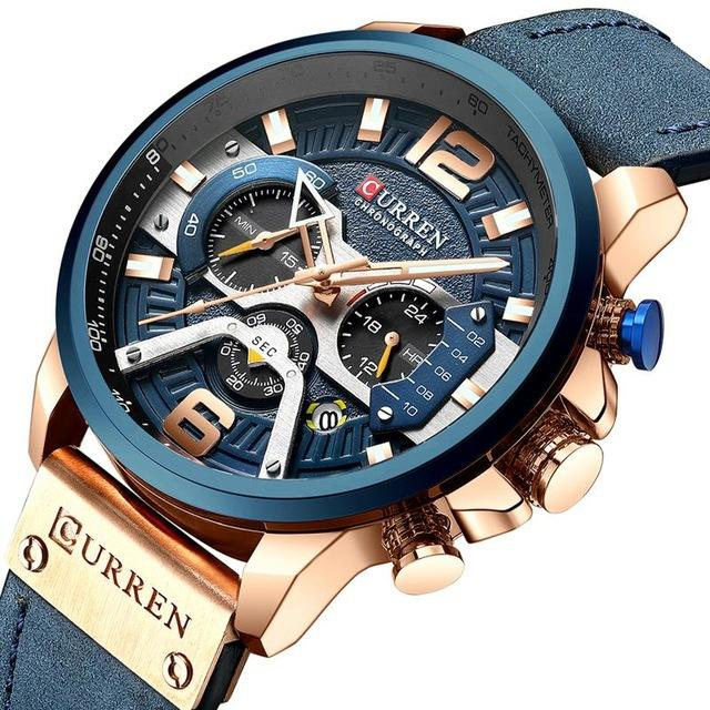 CURREN 8329 Watch Men New Hot Waterproof Chronograph Watches Men Wrist Luxury Quartz Business Wristwatches Relogio Masculino