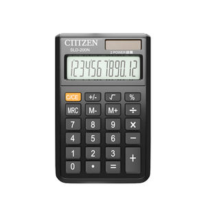 GTTTZEN SLD 200N 12 10 digits solar power pocket calculator with leather cover