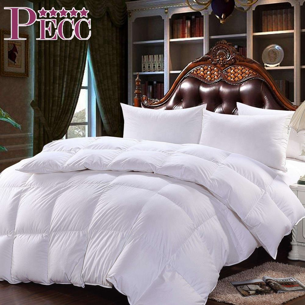 Super Soft White Goose Duck Feather Cotton Bed Patchwork Quilt Sale