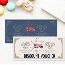 Cheap factory price custom printing gift voucher paper card