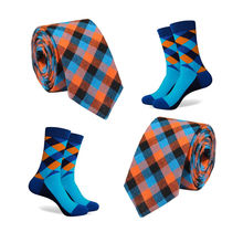 Factory Direct Sell Cotton Necktie Tie And Sock Set For Men