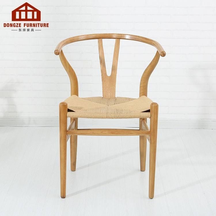 <span class=keywords><strong>Polyvalent</strong></span> Tressé corde armure Y forme chaise pour salle à manger restaurant et restaurant