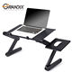 Portable Laptop Computer Desktop Folding Adjustable vertical Laptop Stand Tables with cooling Fans for Desk Bed Couch Sofa