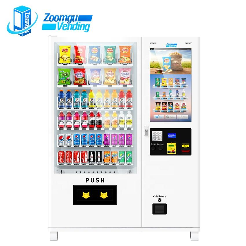 Ce Cb White Oem/odm Snacks And Cold Drink Combo Vending Snack Food Dispenser Machine