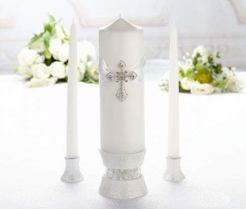 customised decorative cross candle pins for wedding decoration