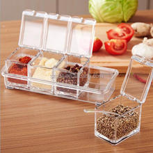Amazon new hot sell 4 Piece Acrylic Seasoning Box