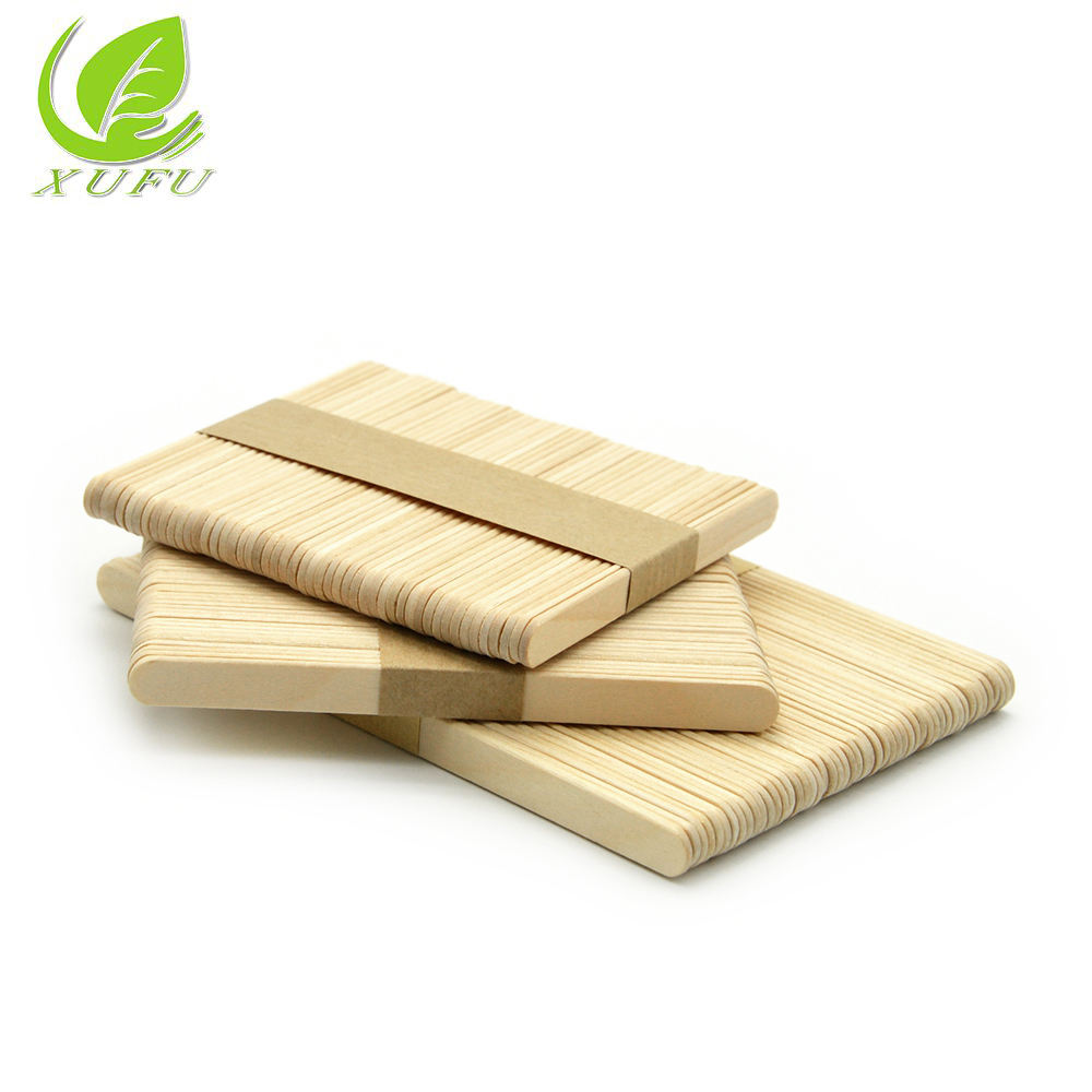 114mm Wooden sticks Food Grade Solid Round edge Wooden Sticks for Ice Cream or Popsicle