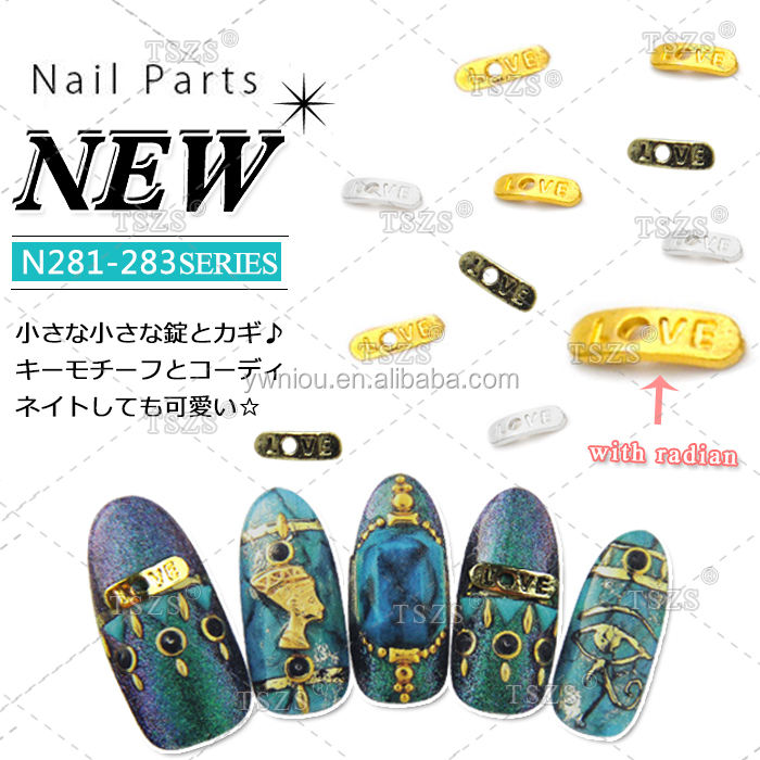 factory price Nail Art Beauty Diy decoration personality love letter Jewelry Nail Sticker