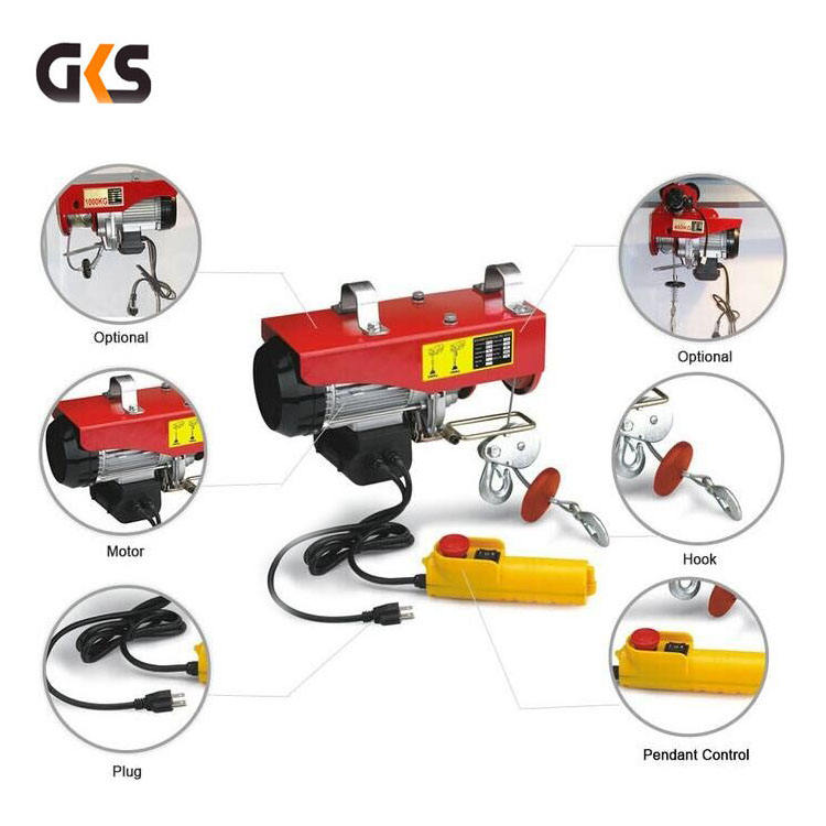 easy install pa electric pulling hoist/mini electric crane hoist 200 kg