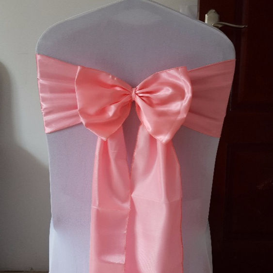 satin chair sash pre tied bow self tie bow ties