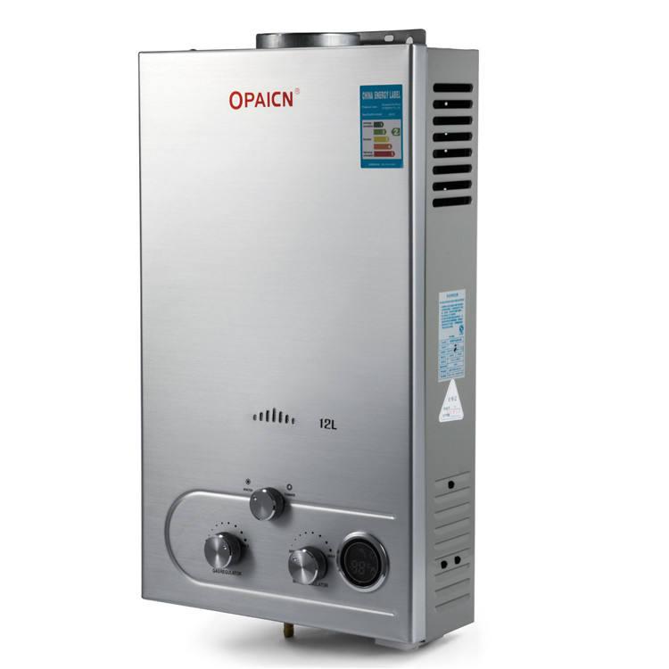 VEVOR Calentador de Gas 12L Calentador Gas Natural Calentador de Agua Calentador de Agua a Gas LNG Calentador de Agua de Gas 12L