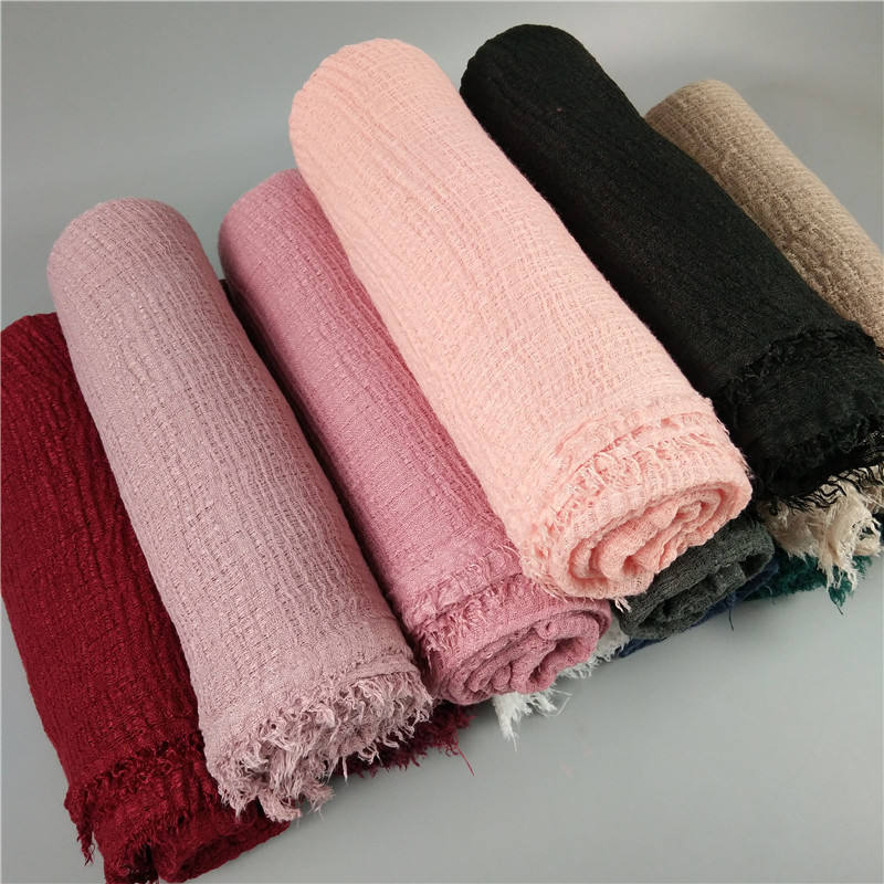 spring fashion lady accessories large long scarf shawl 100% cotton pashmina scarf