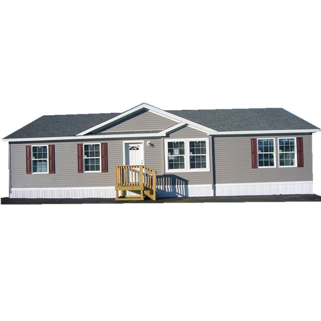 PVC cladding wooden effect prefab house with low price