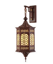 Arabian decorative iron wall lamp for church decoration