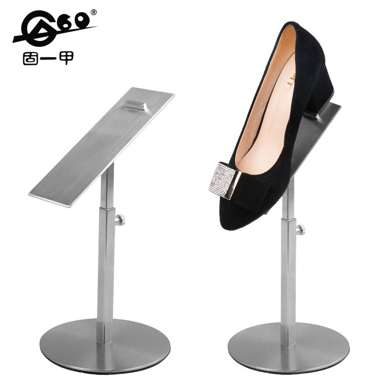 Cheap custom adjustable height shoe display rack fashional shoe rack stand for stores metal stand