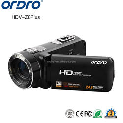 ORDRO Full HD 1080P 30fps 16X digital zoom camcorder HD digital camera support telephoto lens