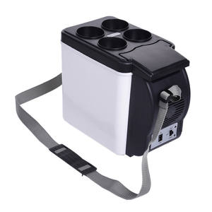 Hot sale 6L car mini fridge 12V Auto Freezer Portable Cooler and Warmer small refrigerator ABS car vehicle fridge