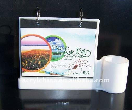 Acrylic Desktop Calendar Display Stand/Plexiglass Calendar Holder