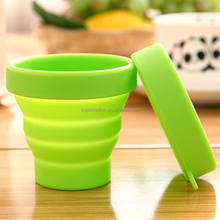 Outdoor Silicone Collapsible Mug Foldable Water Cup With Lid