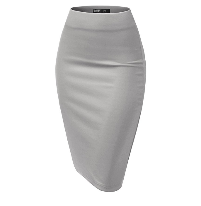 hot Amazon Women Midi Stretchy Pencil wrap skirt