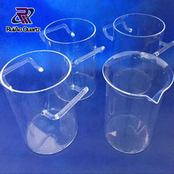 10000ml laboratory clear big quartz glass beaker with spout