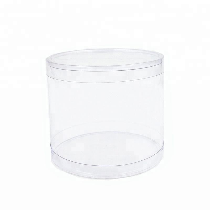 Factory Price Wholesale Environmental Clear Plastic Tube With Lid For Storage