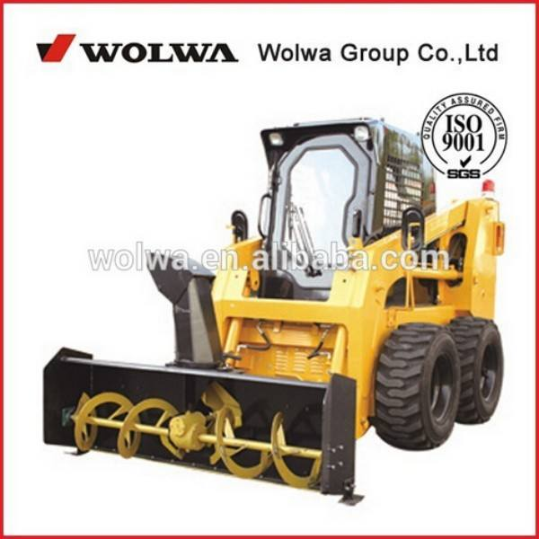 GNHC65 china mini skid steer loader with electric control snow blower attachment for sale