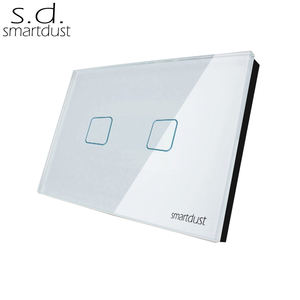 US AU 2 Gang 1 Way Wifi Light Switch TC2 Series No Need Controller Smart RF Remote Control Touch Switch