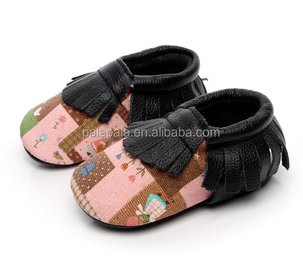2016 Fashion Genuine Leather Baby Moccasins Soft Soled Tassel baby toddler shoes baby prewalker shoes First Walkers